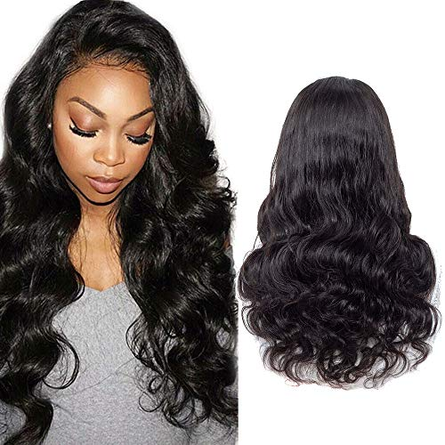 ISEE Hair 150% Density Brazilian Body Wave Lace Front Wig Glueless Lace Front Human Hair Wigs For Women Black Pre Plucked Unprocessed 8A Virgin Brazilian Hair Wig