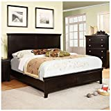 Dunhill Transitional Style Espresso Finish Queen Size Bed Frame Set