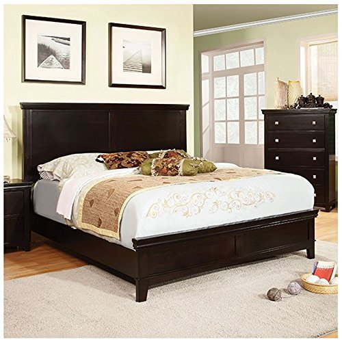 (247SHOPATHOME IDF-7113EX-Q Bed-Frames Queen Espresso)