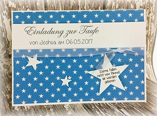 Einladung Einladungskarte Sterne Taufe Jugendweihe