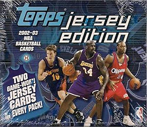 2002/03 Topps Jersey Edition NBA Baseball box (10 ok, TWO Jersey cards per PACK!) ()
