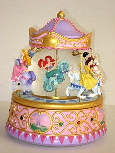 - Snowglobe Disney Multi Princess Carousel Musical Snow Globe Ariel, Belle, Cinderella, Sleeping beauty, snow white