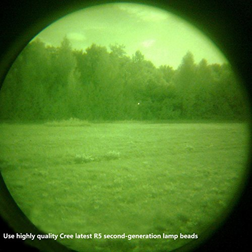Review Ulako Green light LED Coyote Hog Pig Varmint Predator Hunting Light Flashlight with Remote Pressure Switch