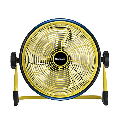 Geek Aire Rechargeable Outdoor Floor High Velocity Fan, Cord