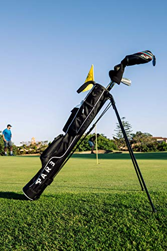 "Par3 Golf [New] Lightweight Sunday Golf Bag with Stand - Easy to Carry & Durable Pitch n Putt Golf Bag - Golf Stand Bag for The Driving Range, Par 3 & Executive Courses - 31.5"" Tall"