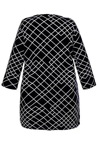Tunique Femme Noir Grandes Popken Imprim Tailles Ulla 701153 UwIax
