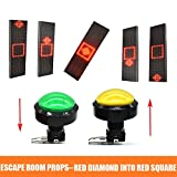 Escape Room Props Keep The Red Diamond in the Red Square For some time to unlock controll 12V Electronic magnetic Lock