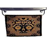 homecoco Sports Ttowel Mexican Skull - Orange Cut Out Paper Towel W 8' x L 23.5'