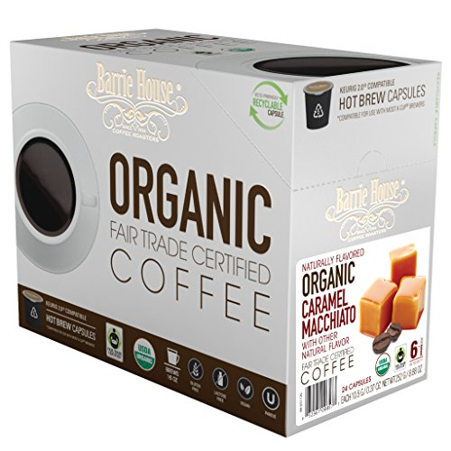 Barrie House Fair Trade Organic Caramel Macchiato Single Serve Capsules (24 Capsules)