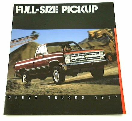 1987 87 Chevrolet CHEVY PICKUP Truck BROCHURE R10 V20 - Chevrolet V30 Pickup