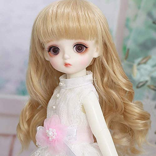 AMITD BJD Doll Set 1/6 26cm 19 Ball Jointed Dolls Cosplay Fashion Dolls Surprise Toy mit Outfit Elegant Dress Shoes Wigs Free Makeup for Girl Gift