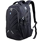 17.3 inch Laptop Backpack with Rain Cover Airbag Shockproof Water Resistant Travel Bag Work School College Backpacks for Men and Women,Black Business Backpack fit 15.6 17.3 laptops by Outjoy