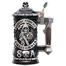Sons of Anarchy Collectible Stein with SAMCRO Logo and Reaper by The Bradford Exchange
