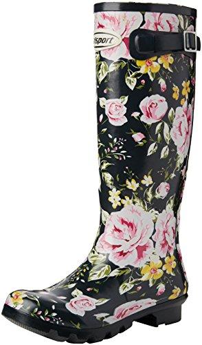 Grisport Wellesley - Botas de goma Unisex adulto Multicolor (floral)