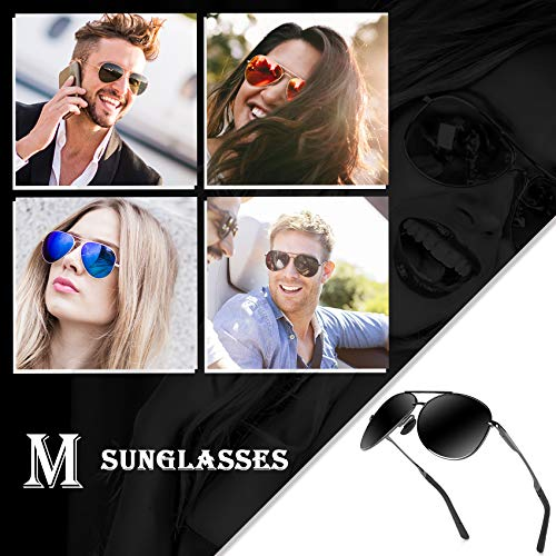 Aviator Sunglasses for Men Polarized Women -MXNX UV Protection Lightweight Driving Fishing Sports Mens Sunglasses MX208 3