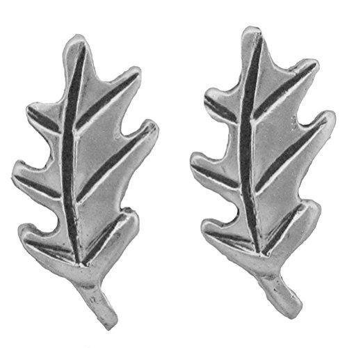(925 Sterling Silver Oak Leaf Earrings Charm Leaves Plant)