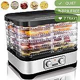 Food Dehydrator Machine Jerky with 7 Trays, Knob Button/250Watt