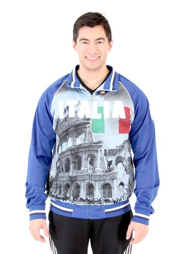 - Men's 2014 FIFA World Cup Soccer Italia on Frame Sublimation Track Jacket (Adult Small)