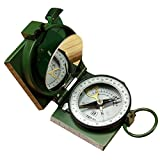 Ezyoutdoor 65x65x26mm Magnetic Navigation Baseplate Compass Multifunction Military Brass Army Metal Sighting High Accuracy Waterproof Camping Emergency for Hiking Camping Night Fishing