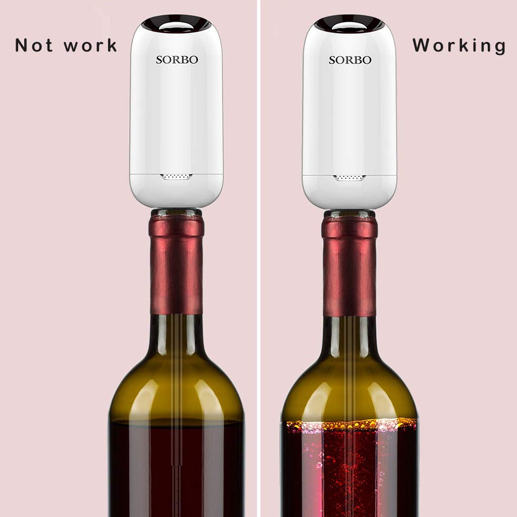 Sorbo Portable Automatic Wine Fast Sober Up For Household Bar Restaurant with Bracket and Protective Shell Sober up in Bottle ABS+Silicone+304 Stainless Steel (GD) by umUXHxk (Image #3)