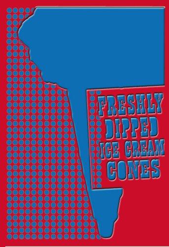 "ArtsyCanvas Freshly Dipped Ice Cream Cones 32"" x 48"" Fabric Wall Sticker"