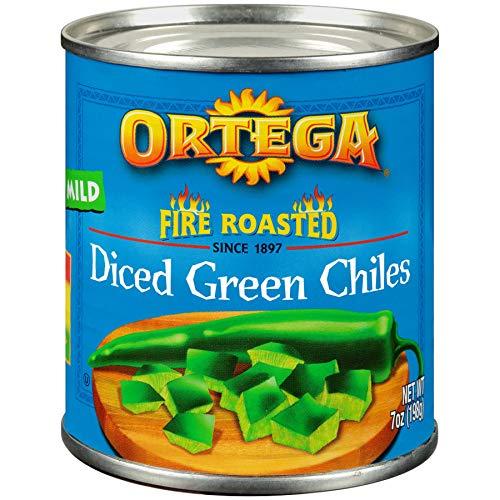 Ortega Diced Green Chilis, Mild, 7 oz ()