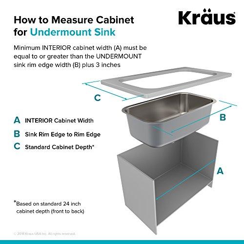 Kraus KBU24 32 inch Undermount 60/40 Double Bowl 16 gauge Stainless Steel Kitchen Sink by Kraus (Image #8)