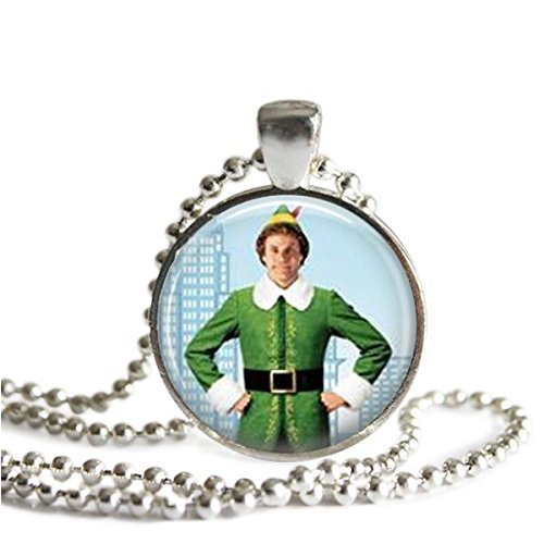 Buddy the Elf 1 inch Silver Plated Pendant Necklace