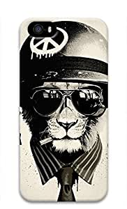 3D Hard Plastic Case for iPhone 5 5S 5G,Cool Lion Case Back Cover for iPhone 5 5S by mcsharks