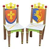 Fantasy Fields - Knights & Dragon Thematic Kids Wooden 2 Chairs Set |Imagination Inspiring Hand Crafted & Hand Painted Details | Non-Toxic, Lead Free Water-based Paint