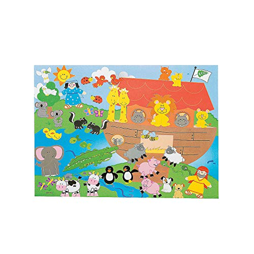 Fun Express - Dyo Noah's Ark Sticker Scene - Stationery - Stickers - Make - A - Scene (Lrg) - 12 Pieces