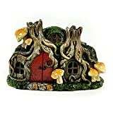 Touch of Nature 55604 Fairy Garden LED Tree Stump House, 6.25''