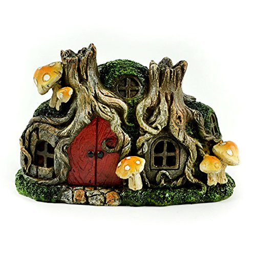 Touch of Nature 55604 Fairy Garden LED Tree Stump House, 6.25'' by Touch of Nature
