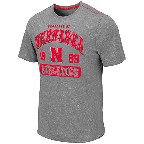 School Football Short Sleeve T-shirt - Mens Nebraska Cornhuskers Campinas Short Sleeve Tee Shirt - XL
