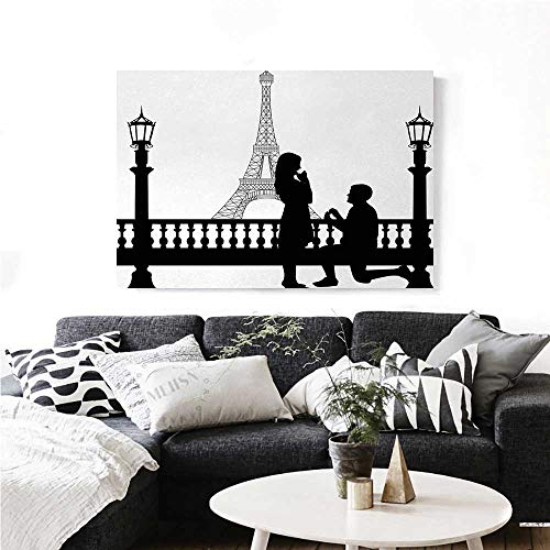 homehot Engagement Party Modern Canvas Painting Wall Art Paris Love Valentines City Wedding Proposal Future Happiness Image Art Stickers 36