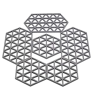 Hot Pads silicone trivets rubber trivet trivets for hot pots and pans (silicone trivets -6pack)