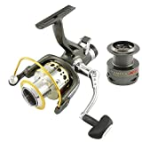 NARITA X5 Surf Fishing Reels 1 Way + 9 Ball Bearings Riverhawk Smooth Metal Carp Spinning Reel Bait Runner Fishing Wheel + Spare spool … Review