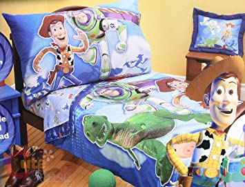 toy story 4 pc toddler bedding set toys to the rescue - Toy Story Toddler Sheets