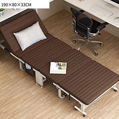 """可能 金属 ベッドフレーム 折りたたみ可能 ベッド, 80x190cm 31.5""""x74.8」, 簡単 折りたたみ 1 ゲスト ベッド の ベッド-褐色 80cm幅"""