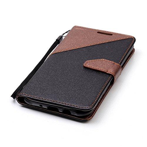 para Galaxy J7(2015) Funda Samsung J7(2015) Carcasa Wallet Case Suave PU Leather Cuero Cubierta Impresión Libro - Sunroyal® Ultra Slim Case Flip Cover Empalme Contraportada Cierre Magnético Función So A-01