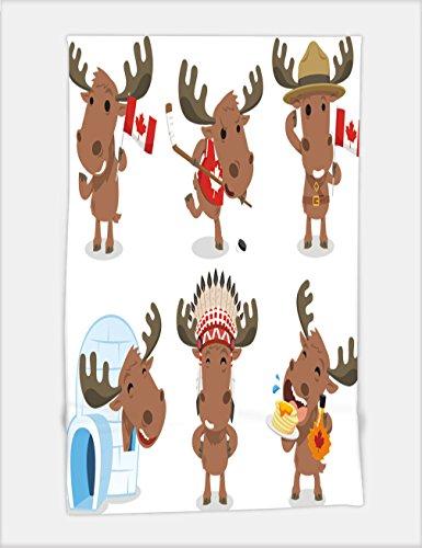 Minicoso Bath Towel canadian moose canada mammal animal species icon culture vector illustration cartoon 221923363 For Spa Beach Pool Bath (Canadian Dinosaur Coin)