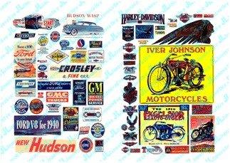 Amazon com: HO 1900-60's Vintage Motorcycle Automobile