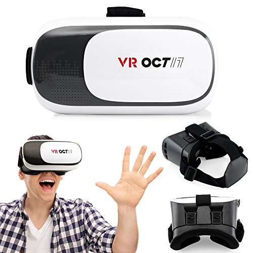 OCT17 VR 2.0 2nd Gen Virtual Reality 3D Glasses Goggle Headset with Adjustable Focal Eye Pupil Distance Resin Lens For 4.7 to 6 inch Smartphones IOS Android Iphone 6 plus Samsung Galaxy S6 Edge