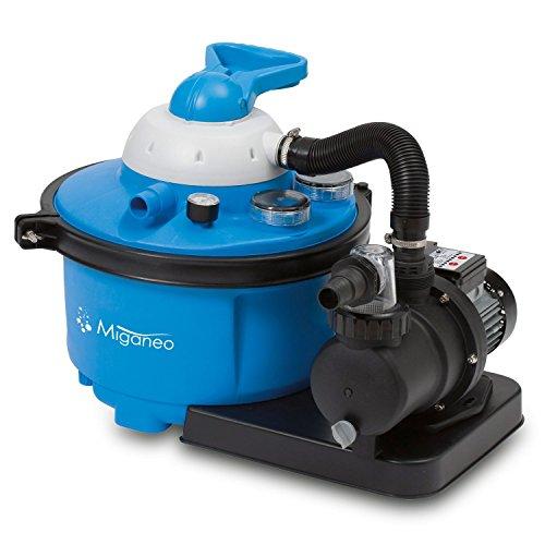 Miganeo® Sandfilteranlage 8,5 m³ Pumpe mit integrierter Zeitschaltuhr für Pool bis 33m³