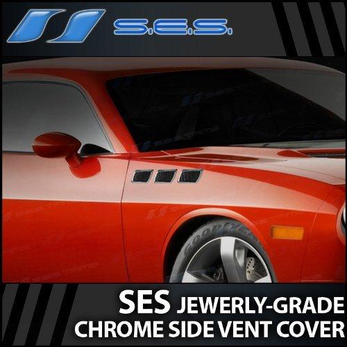 Universal Chrome Side Vents Port Hole Squares (Factory-Grade)