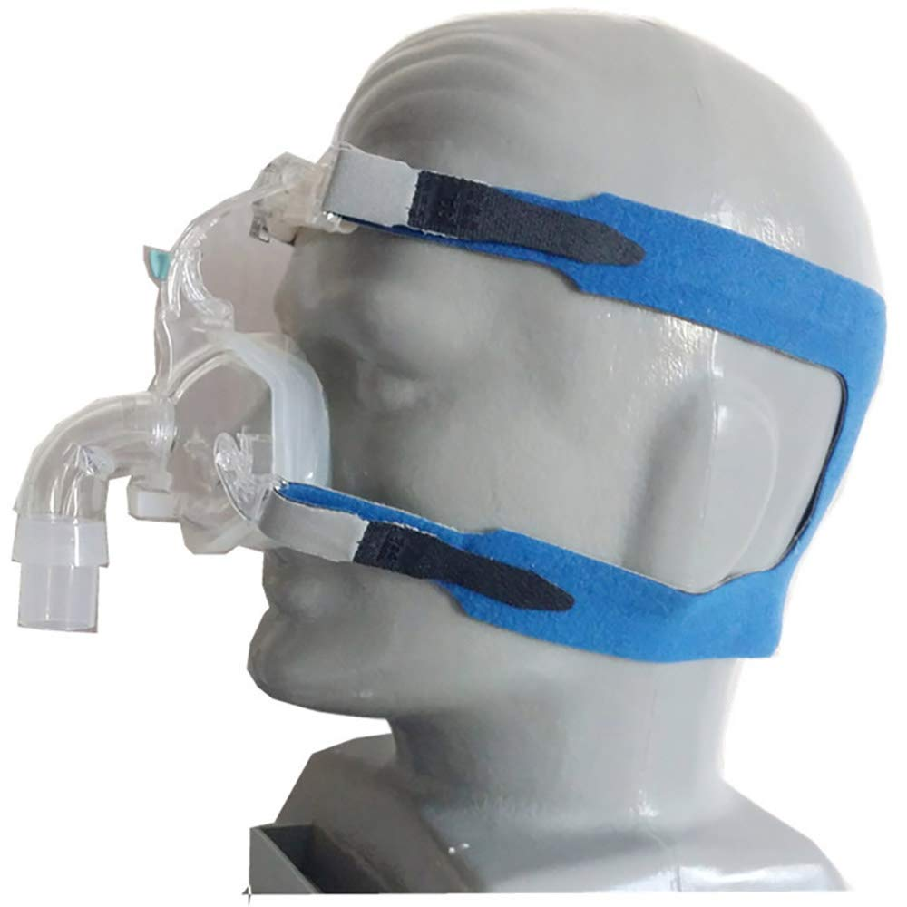 CPAP Headgear Replacement Fit for Respironics Comfort Gel Nasal Mask Head Band - Universal CPAP Headband Headgear Strap for All 4 Point Connection Breathing Machine Mask (Blue) Vinmax