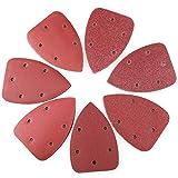 Mouse Detail Sander Sandpaper Sanding Pads Sheets by LotFancy, Pack of 70, 5-Hole, Assorted 40/60/80/120/180/240/320 Grit