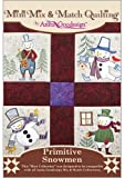 Anita Goodesign Embroidery Machine Designs CD PRIMITIVE SNOWMEN