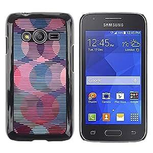 FECELL CITY // Duro Aluminio Pegatina PC Caso decorativo Funda Carcasa de Protección para Samsung Galaxy Ace 4 G313 SM-G313F // Retro Wallpaper Striped Pattern Pink