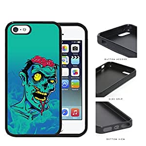 Extremely Bruised Zombie Cartoon Portrait Rubber Silicone pc Cell Phone Case Apple iPhone 5 5s